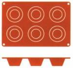 Silikon-Backmatte, MUFFIN mit 6 Formen